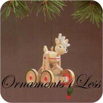 1986 Wood Childhood Nostalgia #3 - Wooden Reindeer - #QX4073 - SDB