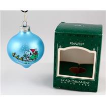 1988 Hallmark Keepsake Ornament Peanuts - Glass Ball - #QX2801 - SDB WITH NO TAG
