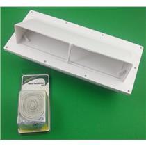 Exterior RV Range Stove Hood Vent (1) V2111-13 & (1) 04195 Installaion Kit