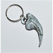 ALLOSAURUS Dinosaur Claw Metal Keychain Fossil Replica 1 1/2 inch #10208 2o