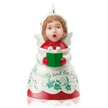Hallmark Series Ornament 2015 Heavenly Belles #3 - Holly - Porcelain - #QX9119