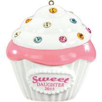 Carlton Heirloom Ornament 2015 Daughter - Porcelain Cupcake - #CXOR019H
