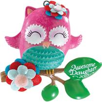 Carlton Heirloom Ornament 2015 Daughter - Pink Owl - #CXOR014H