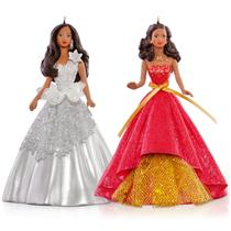 Hallmark 2015 Celebration Barbie Ornament Set - African American #QXI2789-DB