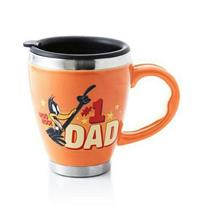 Hallmark Looney Tunes Daffy Duck #1 Dad Ceramic Collectable Travel Mug  #LPR1641