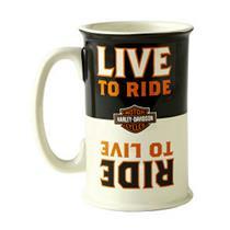 Hallmark Harley Davidson Collection Ride to Live, Live to Ride Flip Mug #DAV1401