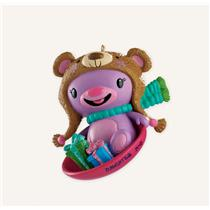 Carlton American Greetings Ornament 2013 Daughter - On Saucer Sled - #CXOR015D