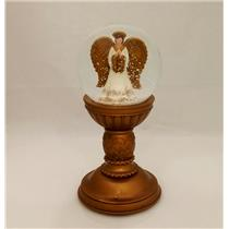 Hallmark Exclusive Angel Pedestal Snow Globe - Magic Sound - #XKT1215