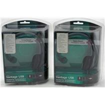 2 x Logitech Vantage USB Headsets for Playstation 3 980174-0403