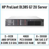HP ProLiant DL385 G7 Server 2xOpteron 8-Core 2.0GHz + 48GB RAM + 8x300GB 10K SAS