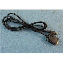 5' DB9 Female to 8 Pin Mini DIN Male Adapter Cable AWN 2464 VW-1 E189533