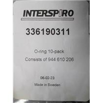 Interspiro 336190311 O-Ring 10 Pack for SCBA Tank and Pack Replacement Part