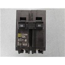 Double 2 Pole 50 Amp Square D Breaker AD-7677 HOM 10ka