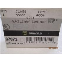 Square D Auxillary Contact Kit 07071 Class 9999 Type AC04 Series A