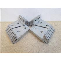 """20 Powerstrut PS748 EG Symmetrical 4-Hole """"L"""" Shape Connector (1/2"""" Holes)"""