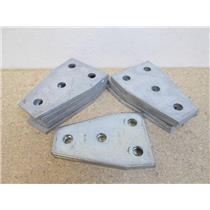 """12 Unistrut P1358 Symmetrical 4-Hole Flat Connector (1/2"""" Holes)"""