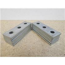 **Lot of 12**  Unistrut  P1925 EG  3-Hole Electro-Galvanized Steel Splice Plate
