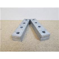 """**Lot of 10**  Powerstrut  PS888  4-Hole Flat Plate Connector (1/2"""" Holes)"""
