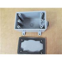 """Carlon  E980DFN  1/2"""" Non-Metallic Weatherproof 18"""" FS Box w/E980CX Cover (Gray)"""