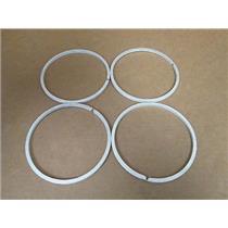 **Lot of 4** MFG Unknown ISO LF 100 Aluminum Retainig Ring Vacuum Fitting