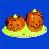 Hallmark Halloween 2011 Pumpkin and Spider Salt and Pepper Shakers - #DIR3491