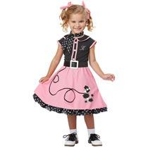 50's Poodle Cutie Toddler Costume Size Medium 3T-4T