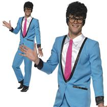 Smiffy's Teddy Boy Adult 50's Blue Suit Costume Size Medium
