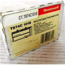 #2 HONEYWELL T874C-1018 MULTISTAGE THERMOSTAT, 2 HEAT 1 COOL - NEW SURPLUS