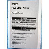 MSA 710440 TECHNICAL MANUAL FOR FIVESTAR ALARM / PERSONAL GAS DETECTOR MONITOR