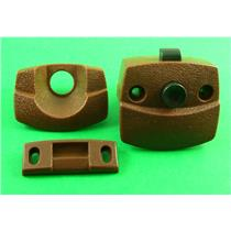 JR Products 20505 Brown Interior RV Door Privacy Latch