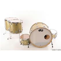 DW Collector's 5pc Gold Drum Set w/ Edge Brass/Maple Snare STEVIE NICKS #23779