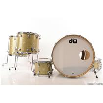 DW Collector's 5pc Gold Drum Set w/ Edge Brass Maple Snare Stevie Nicks #23779