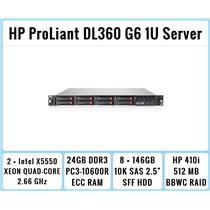 HP ProLiant DL360 G6 Server 2xQuad-Core X5550 2.66GHz + 24GB RAM + 8x146GB RAID