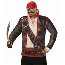 Forum Novelties Mens Realistic Buccaneer Pirate Costume Shirt One Size