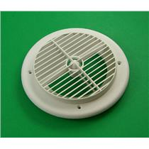 "D&W Inc. 61451 7"" Louvered Plastic Round White RV Vent 6840 WH"
