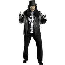 Cryptic Rocker Plus Size Adult Costume Skull Slash XXL 50-52
