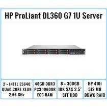 HP ProLiant DL360 G7 1U Server 2xQuad-Core Xeon 2.66GHz + 48GB RAM + 8x300GB SAS