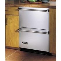 Viking Professional VURD144DSS 24 Inch Freestanding Double Drawer Refrigerator