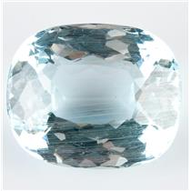 "Stunning Natural Untreated Loose Cushion Cut ""A"" Aquamarine Stone 45.36ct"