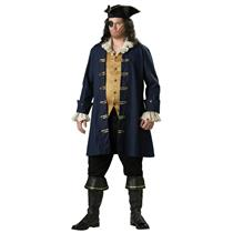 Adult Plus Size Premier Captain Cutthroat Pirate Costume 2XL