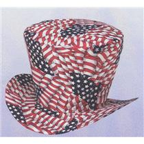 American Flag Top Hat 4th of July Patriot Uncle Sam Accessory
