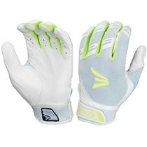 Easton Hyperskin HF3 Fastpitch Batting Gloves, White/OP, Womens X-Large New