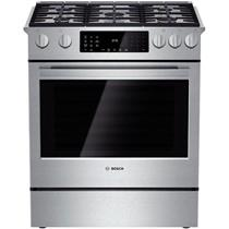 BOSCH Benchmark Series 30 Inch Slide-in Stainless Dual-Fuel Range HDIP054U (PICS)