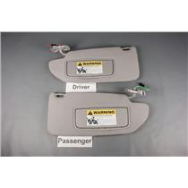2002-2007 Volvo XC70 V70 Sun Visor Set With Covered Lighted Mirrors and Homelink