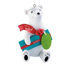 Carlton Heirloom Ornament 2010 Dad - Polar Bear - #CXOR070X-DB