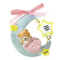 Carlton Heirloom Ornament 2010 Baby Girls First Christmas - #CXOR004X-SDB