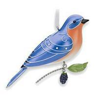 Hallmark Series Ornament 2010 Beauty of Birds #6 - Eastern Bluebird - QX8306-SDB