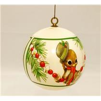 Hallmark Keepsake Ornament 1979 Spencer Sparrow - Satin Ball - #QX2007-DB