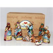 Jim Shore Heartwood Creek 2007 Nativity Set of 9 Ornaments - RARE - #4009284