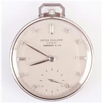 Patek Philippe / Tiffany & Co Unique Vintage 1960's Platinum Pocket Watch